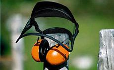 Máscara protectora desbroces