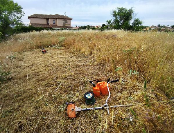Limpieza y desbroce de parcelas y terrenos